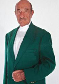SKU#1832 Augusta Green Antique Brass Crest Buttons Green Blazer Natural Shoulders $189
