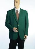 SKU#1832 Augusta Green Antique Brass Crest Buttons Blazer Natural Shoulders (Men + Women) $189