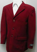 3 Button Mens Dress Blazer with Metal Buttons in Burgundy ~ Maroon ~ Wine Color $79