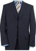 3 Piece Dark Navy Blue Vested 3 Piece Premier Quality Italian Fabric Fine Quality Poly~Rayon (Wool Feel) 3 Button $165