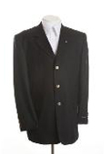 SKU# DIN34 New Mens Black Blazer - Three Button, Single Breasted Suit Jacket $59