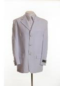 SKU# BH896 New Mens White Blazer - Three Button, Single Breasted Suit Jacket $65