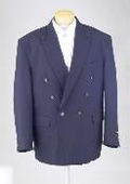 SKU#POE56 New Mens Navy Blue Double Breasted Dinner Blazer Suit Jacket $125