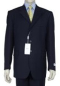 SKU W199 Mens Dress Single Breasted Dark Navy Blue 3 Buttons Double Vent Super 150s Suit 199