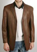 Classic Three-Button Lambskin Leather