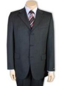 SKU PY92 Mens Darkest Charcoal Gray 100 Pure Wool SUPER 120 3button no vent 99