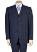 SKU#A63T Men's 2or 3or4 Button Style Navy Blue Pinstripe Light Weight On Sale