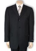 Men's 2or3or4 Button Style normal Black Pinstripe Light Weight On Sale $109