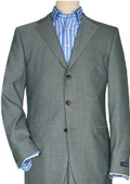 Solid Light Gray Quality Suit Separates
