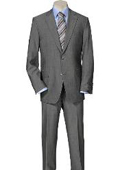 Solid Light Gray Quality Suit Separates, Total Comfort Any Size Jacket