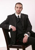 Two Button Notch Lapel Microfiber Tuxedo $79