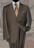 SKU#KL637 Solid Color Taupe ~ Mocca ~ Slate Mens Wool Suit 2 Button 2PC