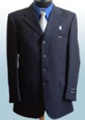 SKU FR24 Mens Dress Navy Blue 4 Buttons Wool Suits 139