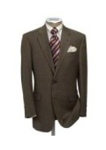 SKU G78 Mens  2 Button Brown Super Wool Suit 139