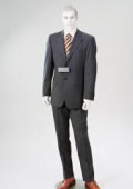 SKU HL32 Loriano 2 Buttons Flat Front Double Vent Charcoal Gray Wool  139