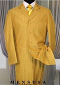SKURF76 Mens High Fashion Metalic Festive Gold Long Zoot Suits 139