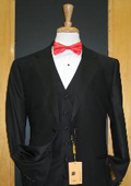 Two Button Three Piece Flat Front Tuxedo $165