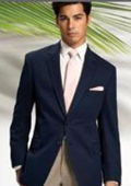 SKU#MASH2 Solid Navy Blue 2 Button Sport Coat Jacket Blazer + Any color Dress Pants + Free Shirt