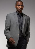 SKU#JD900 Mens Single Breasted Gray Blazer $139