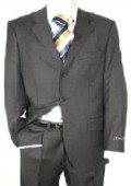 Dark Charcoal Gray Men's Single Breasted Discount Dress 3 Button Cheap Suit $79