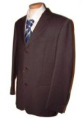 Dark CoCo Brown Men's Single Breasted Discount Dress 3 Button Cheap Suit $79