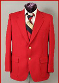 SKU#18-21 Regular $399 Harwick Made in USA Mens Hot Red 2 Button Blazer Sportcoats $179
