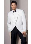 White dinner jacket with black lape