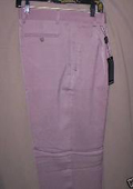 long rise big leg slacks Lavender Deep Pleat-Wide Leg 22- Inch\ around the bottom Pleated baggy dress trousers $59