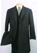 SKU#CK340 Men's Charcoal Fully Lined Wool Blend Car Coat $199