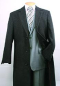 SKU#FM402 Men's Charcoal Fully Lined Wool Blend Top Coat $199