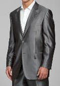Men's Shiny Grey 2-button Suit
