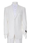 SKU#TTX778 Charming Ivory Mens Two Button Tuxedo