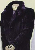 Men's Long Length Faux Fur Coat Black $199