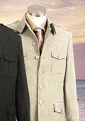 SKU#MU5812 Style comes in Taupe or Brown or Wine Military Safari Style Suit