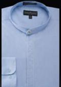 Mens Banded Collar Shirts