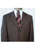 SKU JW34 Mens Single Breasted Italian Dress Dark Brown Double Vent  Super 140s Wool 179