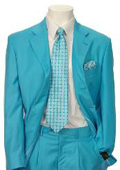 SKU#EMIL_C7 Men's Multi-Stage Party Suit Collection turquoise ~ Light Blue Stage Party