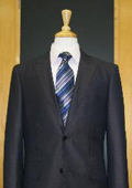 2 Button Peak Lapel Navy Erodesent Flat Front Suit $169