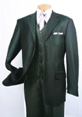 Men's Super 150's Luxurious Fashion three piece suit Herringbone Stripe ~ Pinstripe Black