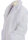 SKU#DC836 Artificial Fur Coat White $179