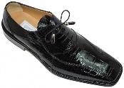 Ferrini Black All-Over Genuine Alligator Shoes $919