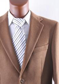 SKU#2BV-J40912C Men's 2 Button Lamb Wool Cashmere Sport Coat Vicuna $185