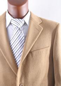 SKU#2BV-J40912C Men's 2 Button Lamb Wool Cashmere Sport Coat Camel ~ Khaki $199