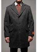 Men's Charcoal Wool and Cashmere Carcoat $125