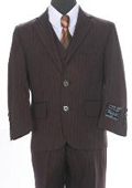 Boys Formal 3 piece 2 Button Suit Brown or Black $79