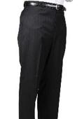 Black Stripe Bond Flat Front Trouser $69