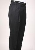 Black Pinstripe Bond Flat Front Trouser $69