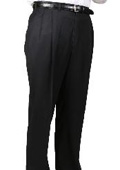 SKU#BN5328 55% Dacron Polyester Black Somerset Pleated Trouser