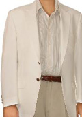 SKU#UM9632 White Spring/Summer Men's Two Button Blazer $155