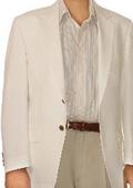 SKU#UM9632 White Spring/Summer Men's Two Button Blazer $155